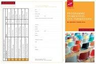 Programme du 1er trimestre 2012 - Pipsa