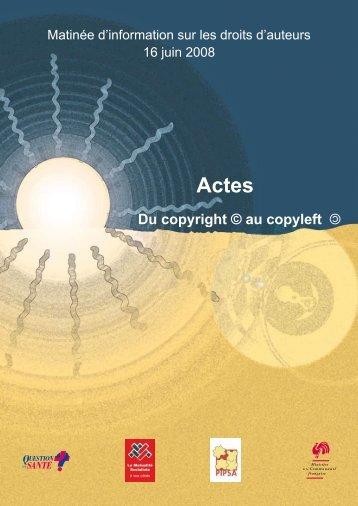 Du copyright au copyleft - Pipsa