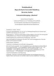 Modulhandbuch Ruprecht-Karls-Universität ... - Slavisches Institut