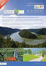 Factsheet Themenschwerpunkt Donau - Ferien Messe Linz