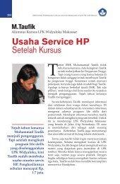 Usaha Service HP Setelah Kursus
