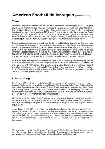 American Football Hallenregeln Stand 23.12 ... - Erkner Razorbacks