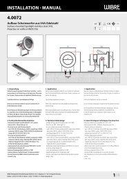 InstallatIon · Manual 4.0072 1/4 - Wibre