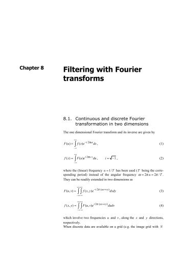 Filtering with Fourier transforms