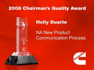 Holly Duarte NA New Product Communication Process - Cummins