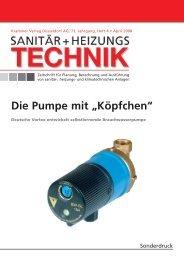 """Die Pumpe mit """"Köpfchen"""" - Deutsche Vortex GmbH & Co. KG"""