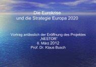 Die Eurokriese und die Strategie Europa 2020
