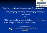 Employment, Equal Opportunities, Social Security