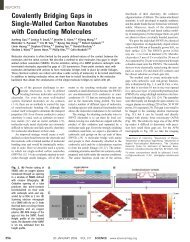 Covalently Bridging Gaps in Single-Walled Carbon Nanotubes with ...