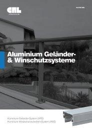 Aluminium Geländer- & Winschutzsysteme  - bei CRL