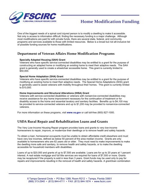 Home Modification Funding Florida Spinal Cord Injury Resource
