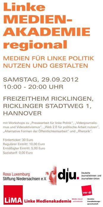 LIMA regional Niedersachsen 2012 - LiMA – Akademie für ...