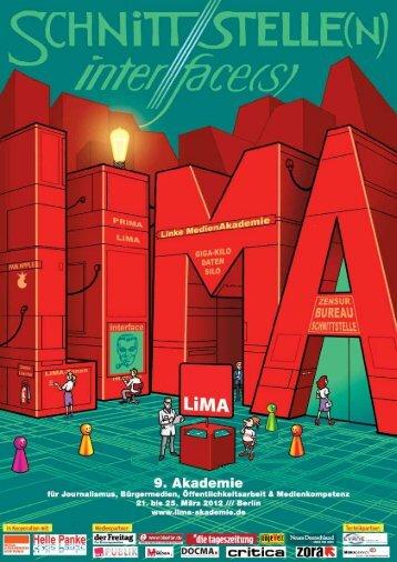 20110722_LiMA2012_c4p - LiMA – Akademie für Journalismus ...