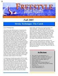 Fall 2005 Newsletter - Dallas Aquatic Masters