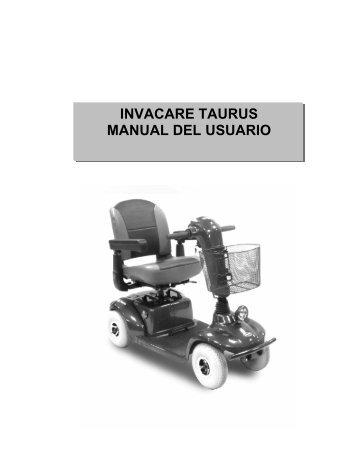 INVACARE TAURUS MANUAL DEL USUARIO
