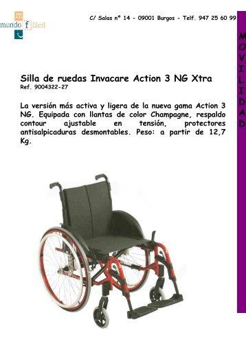Silla de ruedas Invacare Action 3 NG Xtra MOVILIDAD - Mundo Fácil
