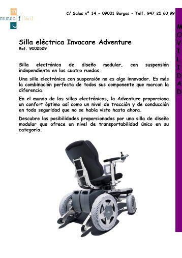 Silla eléctrica Invacare Adventure M O V I L I D A D - Mundo Fácil