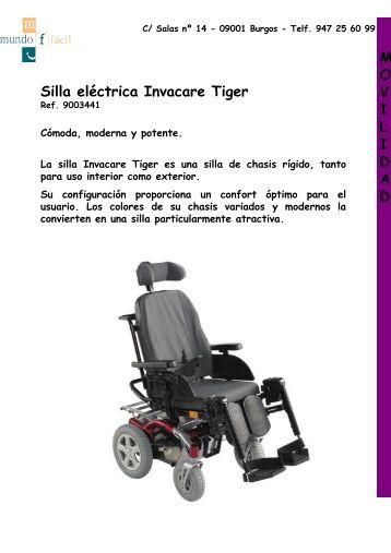 Silla eléctrica Invacare Tiger M O V I L I D A D - Mundo Fácil