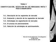 TEMA 9 IDENTIFICACIÓN, SELECCIÓN DE LOS MERCADOS ...