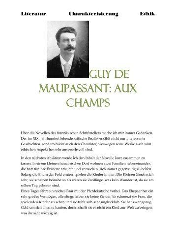 Guy de Maupassant: Aux champs