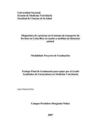 Universidad Nacional Escuela de Medicina ... - Corporación Ganadera