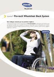 Invacare® Pro-tech Wheelchair Back System - Ortopedia Paoletti