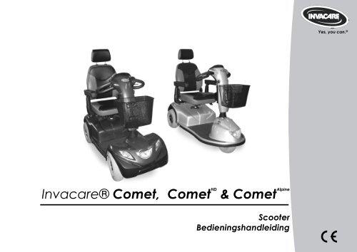 Invacare® Comet, CometHD & CometAlpine