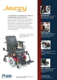Jazzy 1121 Sell Sheet 09-05.p65 - Ortopedia Paoletti