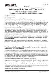 Wahlaussagen für die Wahl zur BVV am 18.9.2011 Für ein soziales ...