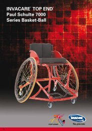 Invacare® Top end® paul Schulte 7000 Series Basket-Ball