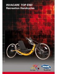 INVACARE TOP END Recreation Handcycles