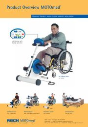 MOTOmed Options and Accessories Brochure - Xtra Care