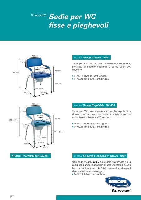 Invacare® Sedie per WC fisse e pieghevoli