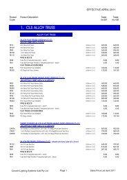 SALES PRICE LIST APRIL 2011 - Concert Lighting Systems Australia