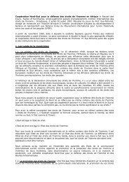 Coopération Nord-Sud pour la défense des droits de l'homme en ...