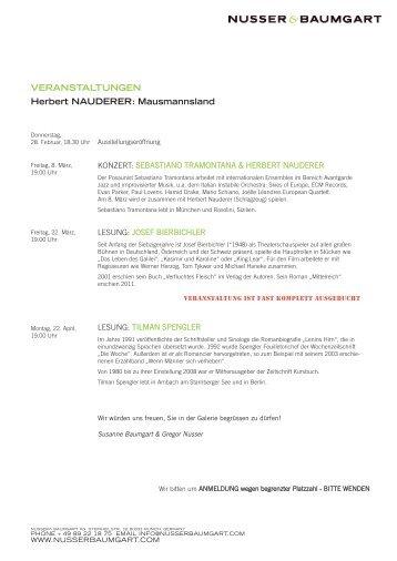 Programm Nauderer - Nusser & Baumgart