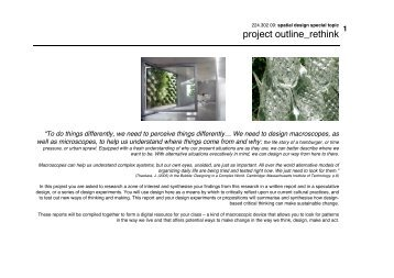 project outline_rethink - Spatial Design@Massey