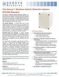 The Sensys™ Wireless Vehicle Detection System ... - Temple, Inc.
