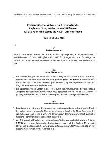 MPO - Fachbereich 9, Universität Bremen
