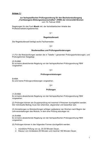 """""""Fachbezogene Bildungswissenschaften"""" (FBW) - Fachbereich 9 ..."""