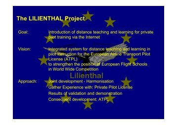 The LILIENTHAL Project - ZMML