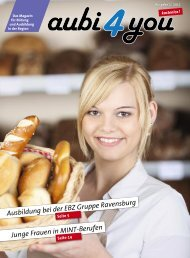 Ausbildung bei der EBZ Gruppe Ravensburg Junge ... - aubi4you