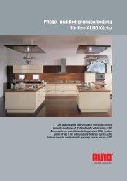 Pflege- und Bedienungsanleitung für Ihre ALNO Küche