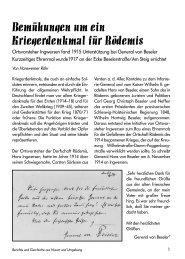 Bemühungen um ein Kriegerdenkmal für Rödemis - Husum-berichte ...