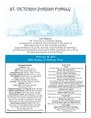 February 10, 2013 Bulletin - St. Victoria Parish Family