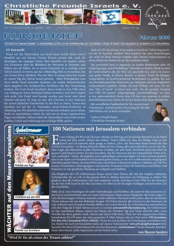 2008 Februar O Israel - Christliche Freunde Israels