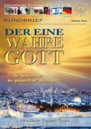 2012 Februar Der Eine Wahre Gott - Christliche Freunde Israels