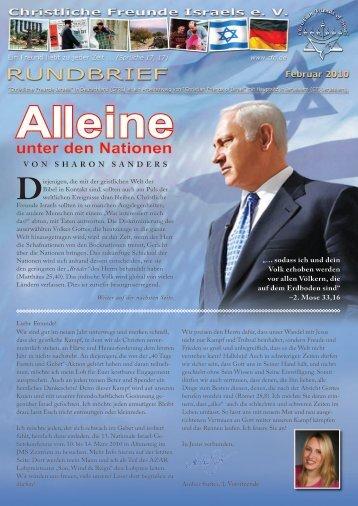 2010 Februar Alleine unter den Nationen! - Christliche Freunde Israels
