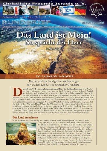 2009 Dezember Das Land ist Mein! - Christliche Freunde Israels