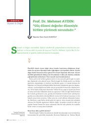 RÖPORTAJ: Prof. Dr. Mehmet AYDIN - DEM